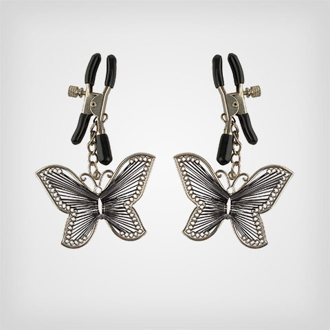 Pinces seins Butterfly Nipple Clamps Accessoire sm Fetish Fantasy