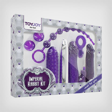 Coffret pour couple 7 sextoys Imperial Rabbit Kit Dark Purple by Toyjoy