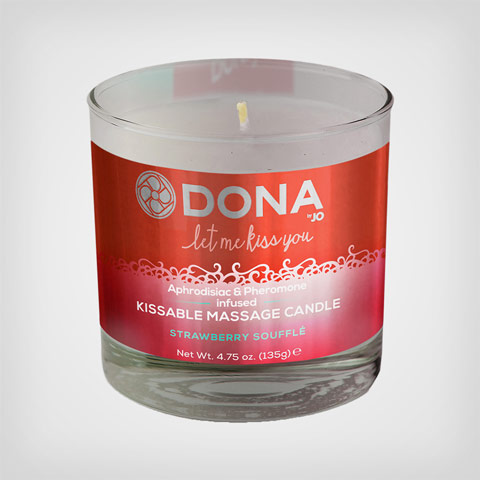 Massage à la bougie Kissable Massage Candle– Bougie de massage fraise