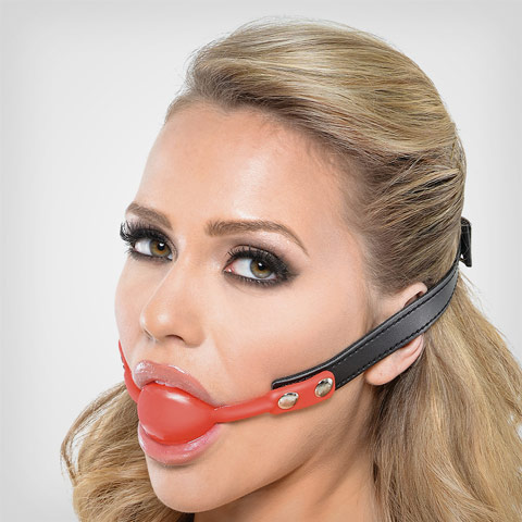 Ball Gag Silicone Red – Accessoire de soumission by Fetish Fantasy