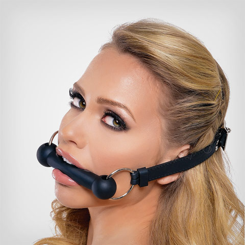 Bit gag Silicone bit gag black – Baillon sm by Fetish Fantasy