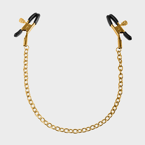 Fetish Fantasy Pinces tétons Ff Gold Nipple Chain Clamps